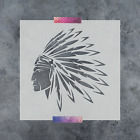 Внешний вид - Indian Stencil - Reusable Stencil of an Indian Head Dress in Multiple Sizes