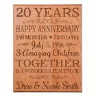 20 anniversary gift - 20th Wedding Anniversary Gift Wooden Wall Hanging  Plaque Sign Art Decor