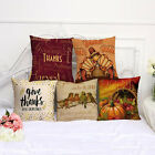 Cottom Linen Pillow Case Waist Throw Cushion Cover Thanksgiving Home Sofa Decor