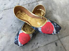 Womens Khusa Pakistan Sandal Bollywood Khussa Mojari Indian Fancy Black/Red Juti