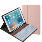 "For iPad Pro 10.5"" 9.7 2018/2017 Backlight Bluetooth Keyboard Leather Case Cover"