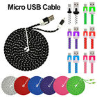 1M/2M/3M  Micro Braided USB FAST Data Charger Cable Lead For iPhone IOS Android