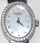 Rotary Ladies Stone Set Sterling Silver Watch & Expander Bracelet  New without tags