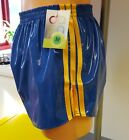 NEW LINE - PVC FOOTBALL Shorts Small to XXXXL 70s & 80s Retro, Royal & Gold