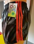 NEW LINE - PVC FOOTBALL Shorts Small to XXXXL 70s & 80s Retro, Black & Red