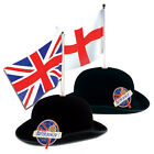 156 x Great British Bowler Hats | Wholesale Union Jack or St Georges Flag