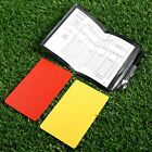 Professional Soccer referee Notebook & Red+Yellow Card For Sports Referees New