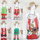 Unisex Kitchen Rib Apron Christmas Decoration Holiday Dinner Party LB6Y