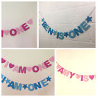 PERSONALISED CHILDS  BIRTHDAY BANNER. I AM ONE BLUES OR PINKS. inc age and name