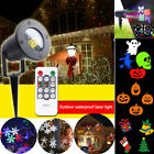 LED Laser Moving Projector Lamp Landscape Outdoor Snowflake Light Xmas Halloween