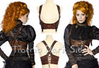 RQ-BL SP085 Braun Pirate Maid Steampunk Leder Underbust Top Brust Gürtel Harness