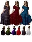 Mexican Peasant Maxi Dress - Women Fashion Plus Sizes - LotusTraders MTO G318