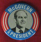 Large Campaign Button George S. McGovern 1972 (# 413)