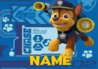 PAW PATROL chase PERSONALISED PLACE MAT DINNER MAT TABLE MAT