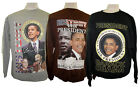 44th President Barack Obama MLK Malcolm X Sweatshirt 3 Styles Long Sleeve NWOT