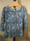 WOMANS ABSTRACT PRINT CASHMERE SWEATER TALBOTS PETITE PLUS 2XP 18WP 20WP $169
