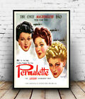 Permalette : Vintage Hair Dressing advertising , Wall art ,poster, Reproduction.