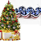 6pcs 6/8cm Christmas Tree Hanging Ball Decor Festival Party Ornament US UK Flag