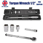 1/2 Ratcheting Torque Wrench 28-210Nm Socket Drive Ratcheting with Extension UK