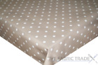 Small Spots Polka Dot Taupe PVC Tablecloth Vinyl Oilcloth Kitchen Dining Table