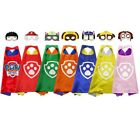 Kids Cosplay Costume Party Toy Cape Mask Set Paw Patrol Costume Dog Paw Cape