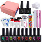 36W UV Dryer Lamp Any Color Gel Polish Top Base Soak Off Gel Polish Full Kit Set
