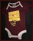 MINNESOTA GOPHERS RIVALERY THREADS INFANT ONE PIECE 3 SIZES 0-3, 3-6, 6-9 MONTH
