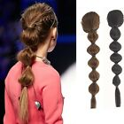 Lady Daily Hair Extension Braided Crochet Ponytail Drawstring Hairpiece