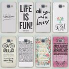 Life Quotes Style Hard Case Cover Skin For iPhone 5 6 7 8 Plus Samsung S7 S8 J7