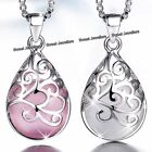 best christmas gifts for my wife - Matching 925 Silver Opal Necklaces - Xmas Gift For Her Best Friend Daughter Wife