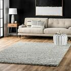 nuLOOM NEW Contemporary Geometric Chevron Plush Shag Area Rug in Ivory