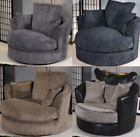 Dylan Swivel Chair Armchair Sofa Jumbo Cord & Leather Portobello Cord Cuddle