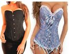 Aimerfeel various Burlesque overbust patterned adjustable lace up boned corsets