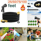 25 50 75 100 Feet Expandable Flexible Garden Water Hose+8 Functions Spray Nozzle