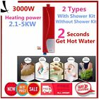 3000W Mini 220V Instant Electric Tankless Hot Water Heater Sink Tap Faucet RI