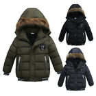 Winter Baby Boys Kids Handsome Solid Keep Warm Thick Coat Padded Jacket Outwear