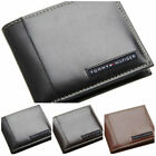 Tommy Hilfiger Men's Bifold Leather Passcase Designer Wallet Black Brown Tan