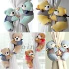 2Pcs Baby Bedroom Plush Bear Curtain Tieback Holder Hook Buckle Decor New