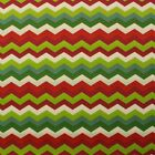 "WAVERLY PANAMA WAVE JEWEL RED LIME GREEN ZIG ZAG OUTDOOR INDOOR FABRIC BTY 54""W"