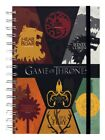 Game of Thrones Sigils A5 Black Notebook