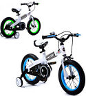 """BLUE AND GREEN 16"""" ROYAL BABY GIRLS BOYS KIDS CHILDREN BIKE WITH STABILISERS"""