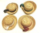 Bear Doll Craft Hats Doll Straw Hats Accessories 5 inch