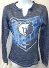 Memphis Grizzlies Basketball Ladies Long Sleeve T-Shirt Blue & White on eBay