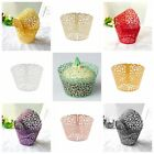 50pcs Cupcake Wrappers Filigree Vine Lace Cup Wrap Liners Wedding Party Decor