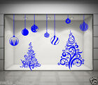 CHRISTMAS SHOP WINDOW STICKER XMAS TREE WALL STICKERS XMAS BAUBLES DECALS  NN6