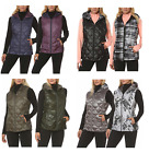 NWT Gerry Womens Reversible Down Hooded Packable Puffer Vest