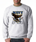 SWEATSHIRT Occupational United State Military Navy Anytime Anywhere Tridents