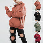 Women Ladies Oversized Solid Color Long Sleeve Sweater Hoodies Pullover Jumper
