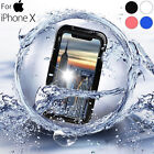 360° Waterproof Swimming Dirt Shockproof Full Cover Underwater Case For iPhone X