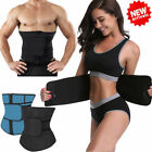 Men Women Corset Tummy Waist Cincher Sweat Trainer Hot Body Shaper Slim Belt GYM